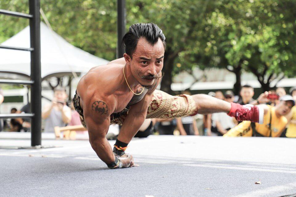 泰國街頭健身好手